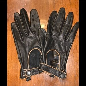 Barbour Leather Land Rover driving Gloves black S